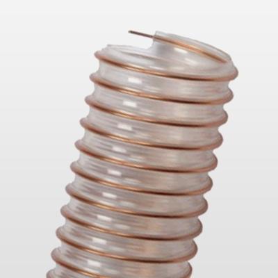 Tubo con spirale metallica per aspirazione polveri e trucioli normale densità.